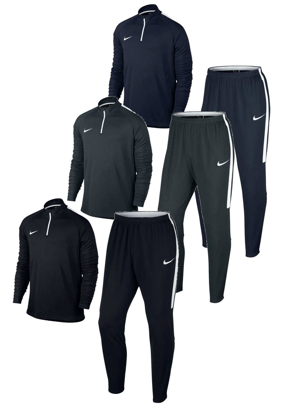 b85eb5e47486c6 Dry Academy Drill Nike Training Tracksuit Men half-zip 2016 17 | eBay