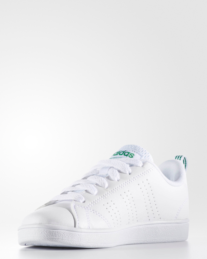 Adidas sports shoes sneakers Advantage Clean Baby White Woman Green | eBay