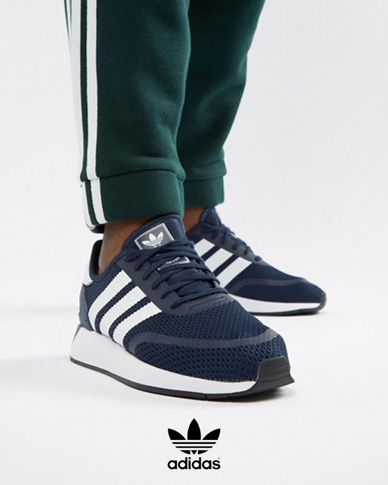 Adidas-Originals-Trefoli-Scarpe-Sneakers-Trainers-Sportive-N-5923-Blu