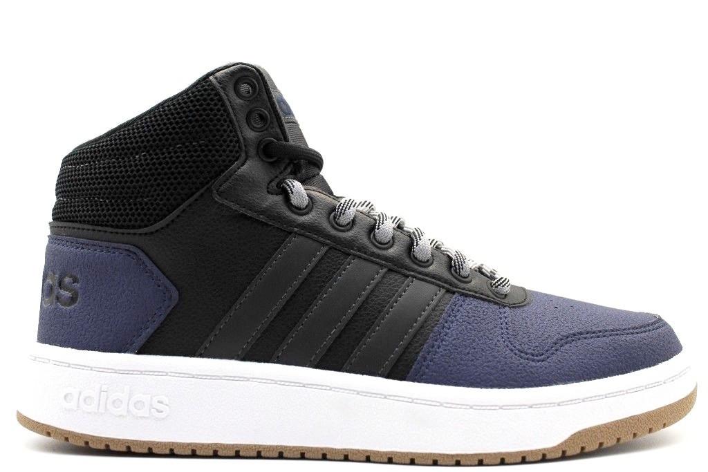 separation shoes f150f 48d2b Adidas Scarpe Sneakers Sportive Blu caviglia alta HOOPS 2.0 MID 2018  Herrenschuhe