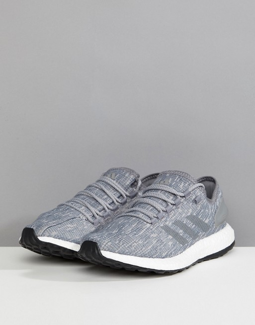 info for 5d015 f4c8c Adidas-Running-Shoes-Sneakers-PureBOOST-Grey