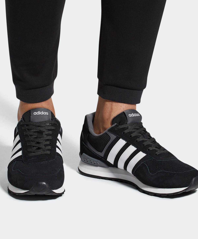 new style fd5d1 837e8 Adidas-Scarpe-Sneakers-Sportive-10K-Uomo-Nero-Bianco-