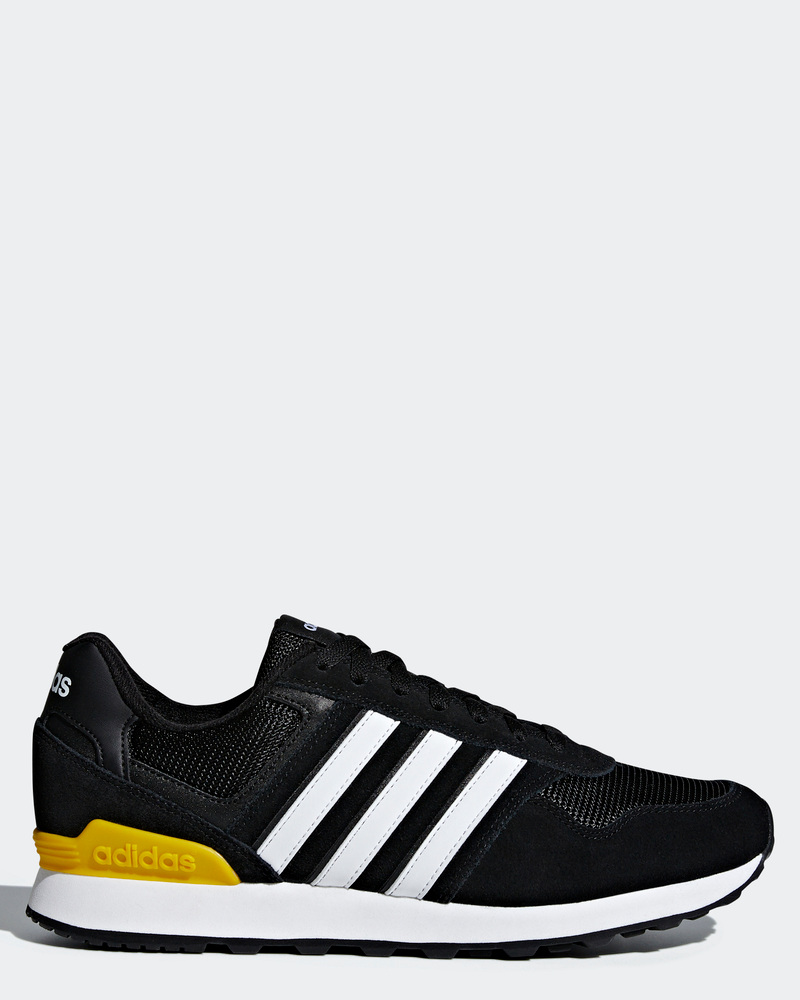 Adidas Sport zapatillas deporte zapatos negro amarillo Sportswear 10k