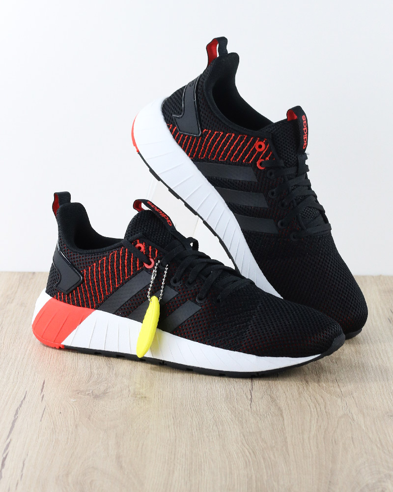Adidas-Scarpe-Sportive-Sneakers-Nero-arancio-Questar-Byd-Sportswear-Lifestyle