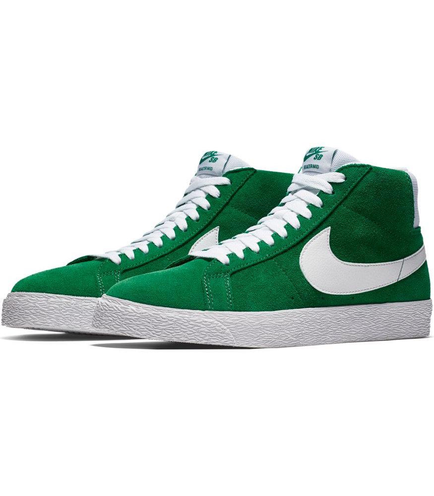 Nike Sport Skate Schuhe Stiefel Schuhe sportswear Zoom Blazer Mid Skate Sport grün hohe Knöche 242208