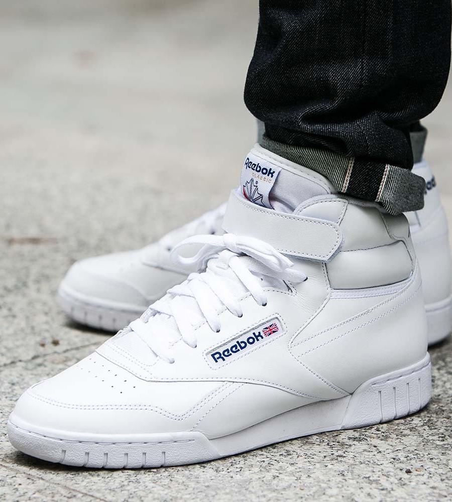 Reebok-Scarpe-Sneakers-Trainers-Sportive-Classic-Bianco-EX-O-FIT-HI