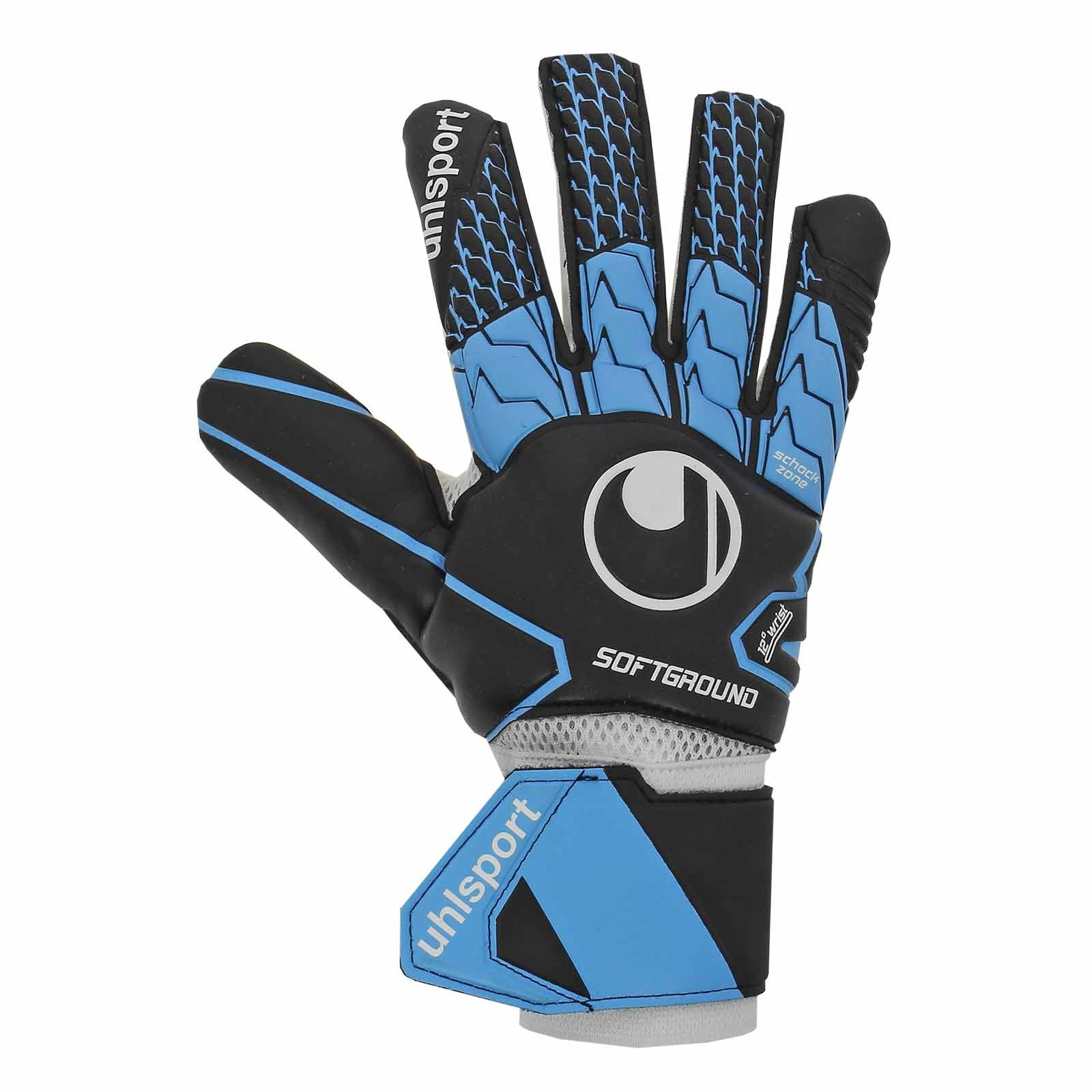 Uhlsport-SOFT-HN-Competition-Gant-de-Gardien-Keeper-Gloves-Bleu-noir miniature 1