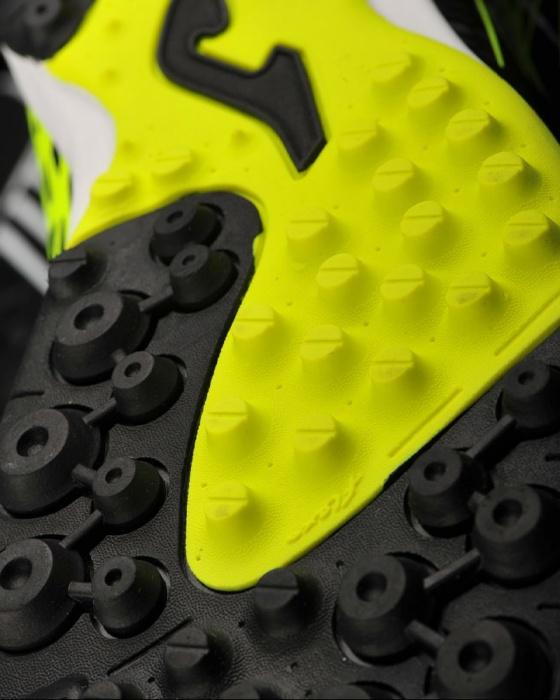 new product 4bdac 1fa59 ... Scarpe da calcetto Joma Champion 801 Turf trainers Con calzino Nero  Giallo uomo - Football boots ...