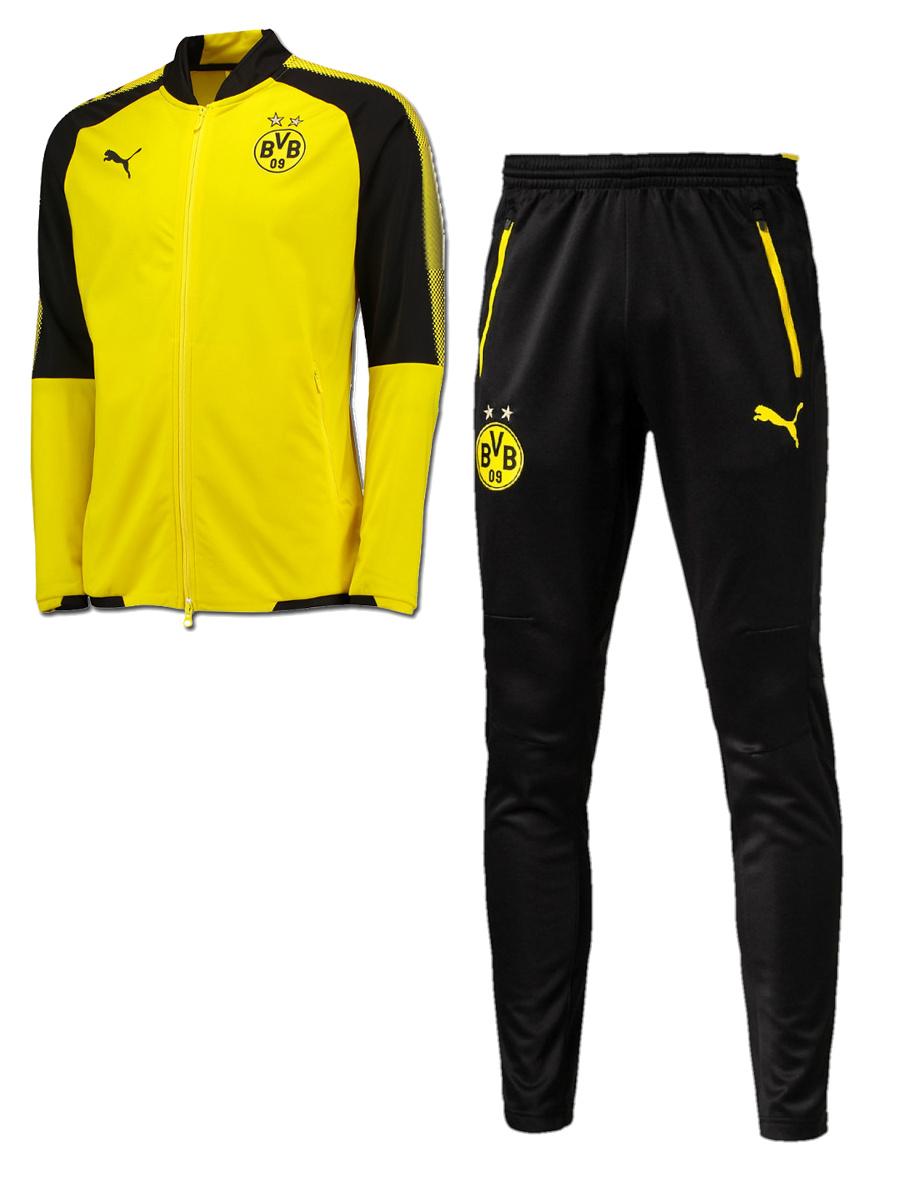 Borussia-Dortmund-bvb-09-Puma-Tuta-Allenamento-Training-Tracksuit-Giallo