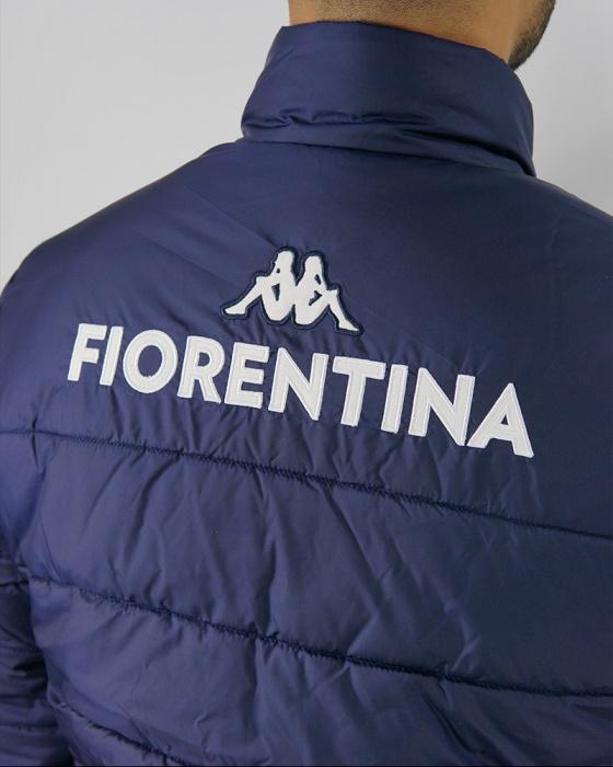 Fiorentina Kappa Bomber Piumino Giubbotto 2020 UOMO Blu AMBADDED 2 ...