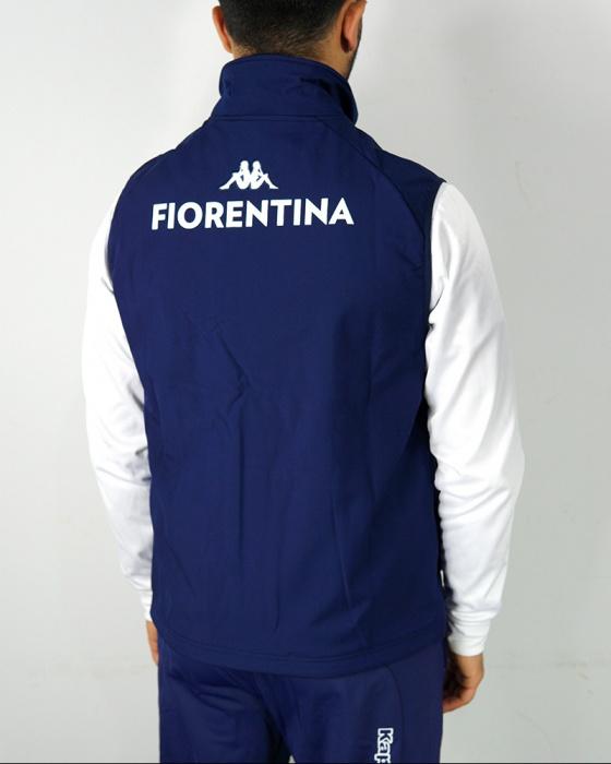 Fiorentina Kappa Bomber Giubbotto Smanicato Gillet UOMO Blu 2020 ...