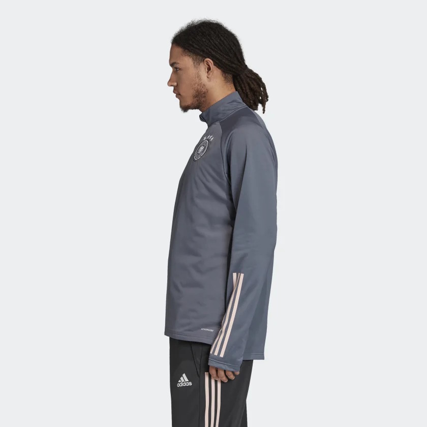 Germania Germany Adidas Felpa Allenamento Warm Top Mezza zip Antracite Uomo