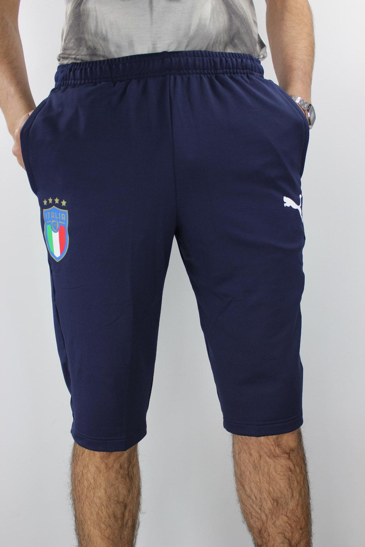 Italia-Puma-Pantaloncini-Shorts-Pinocchietti-Blu-2018-3-4-allenamento-Pants