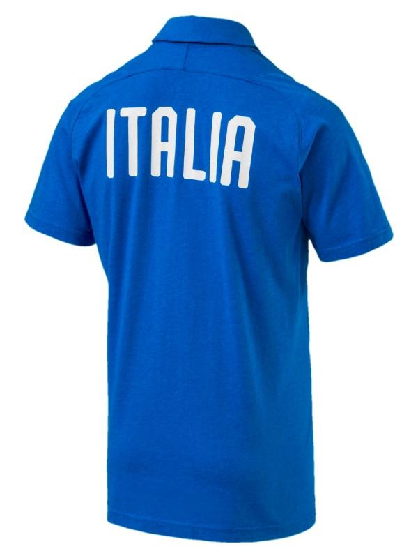 ... Polo Puma Italia FIGC Casual Performance maniche corte Azzurro cotone  uomo 2018 - Polo Puma Italia 07a4c0807