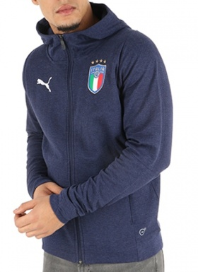 d23ded2cc9 ... Tuta Sportiva Puma Italia FIGC cotone Casual Performance Sweat blu uomo  2018 - Sport Tracksuit Puma ...