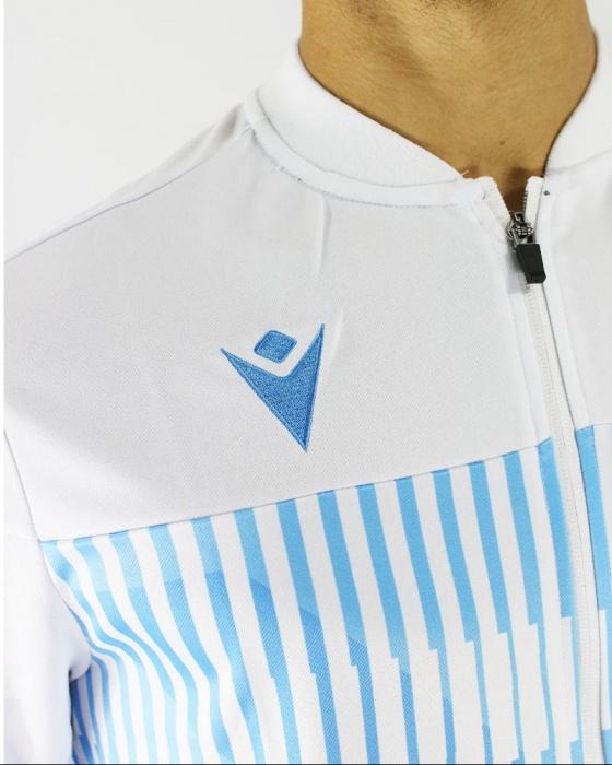 Dettagli su SS Lazio Macron Giacca tuta Pre gara estiva 2019 20 Bianco