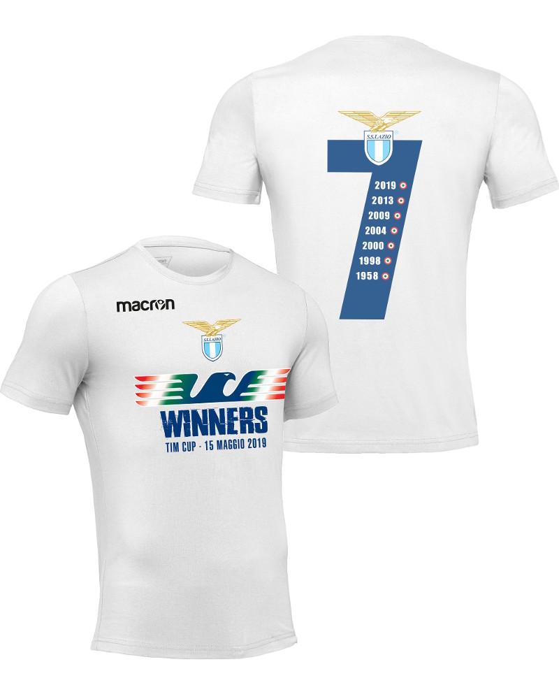 Actif Ss Lazio Rome Macron Loisirs T-shirt Coton Coupe Tim Homme Vêtement De Sport CoûT ModéRé