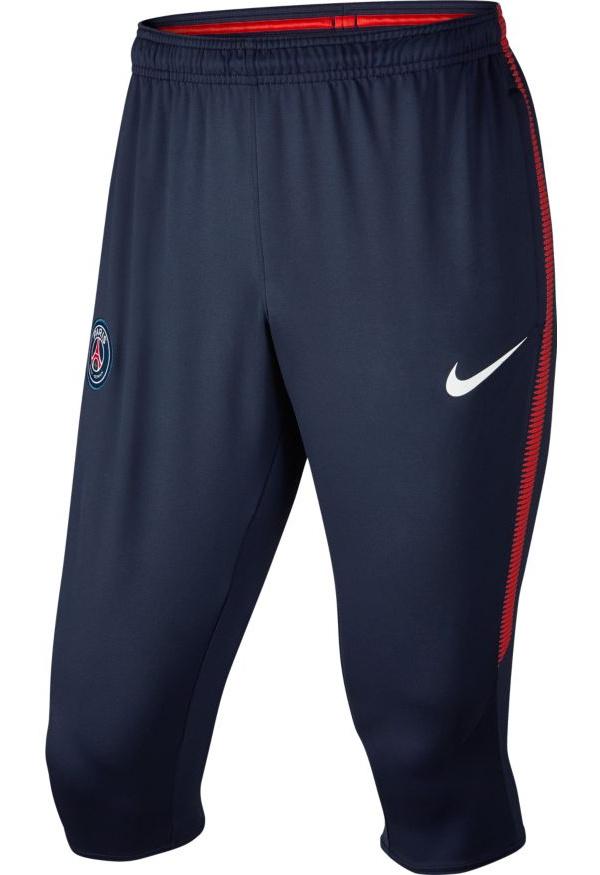 PSG-Nike-Pantaloncini-Pinocchietti-Dry-Squad-Blu-2017-18
