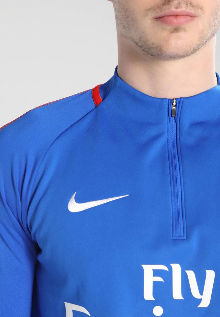 Squad-Drill-Top-PSG-Nike-Felpa-Allenamento-Training-Azzurro-2017-18-Mezza-zip