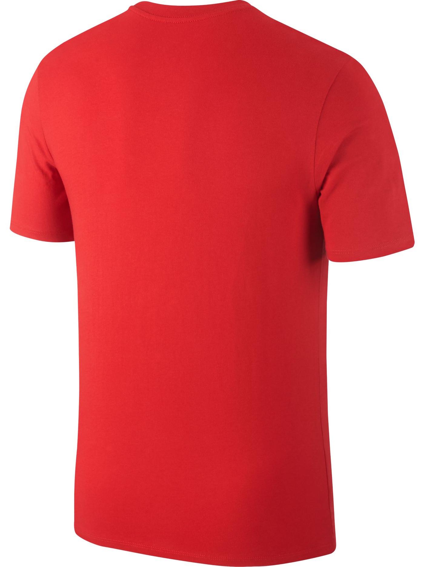 crest tee Portogallo Nike T shirt tempo libero Mondiali 2018 Rosso cotone