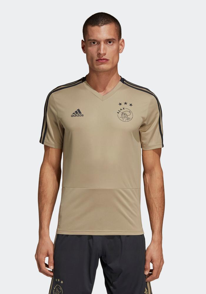 3059cef7b9f Ajax Amsterdam Adidas Training Shirt Top Golden 2018 19 CLIMACOOL | eBay