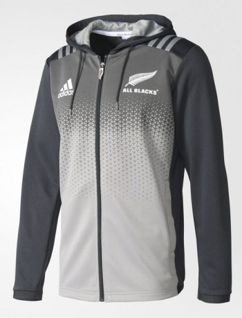 famous brand attractive price coupon code Details about All Blacks New Zealand Adidas Training Jacket hoodie Grey 2017