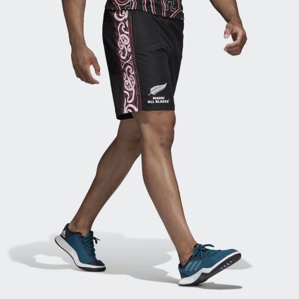 All Blacks New Zealand Adidas Pantaloncini Shorts Hose Woven Black 2018 19 | eBay
