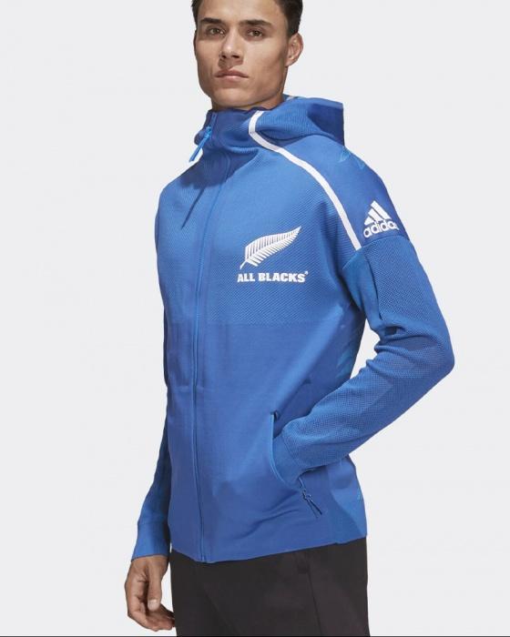 Details zu All Blacks New Zealand Adidas Pre Match Jacket RWC 2019 Z.N.E. Hoodie Blau
