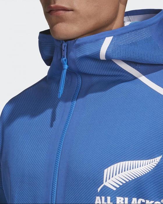 All Blacks New Zealand Adidas Pre Match Jacket RWC 2019 Z.N.E. Hoodie Blau | eBay