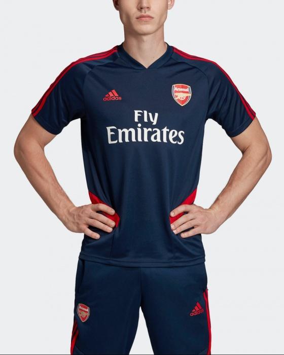 Arsenal Fc Adidas Maglia Allenamento Training Shirt Uomo Blu 2019 20 Climacool | eBay