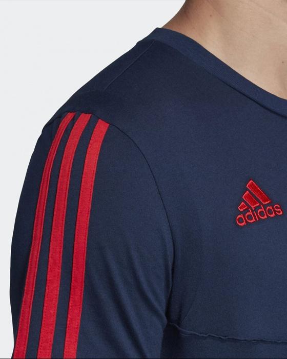 Dettagli su Arsenal Fc Adidas Maglia Allenamento Training Blu Cotone Tee 2019 20
