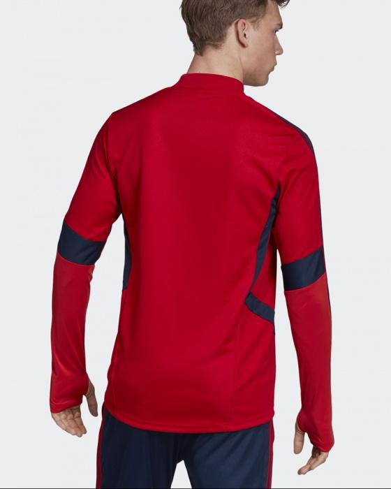 Dettagli su Arsenal Fc Adidas Felpa Allenamento Sweatshirt Warm Top Rosso 2019 20 ClimaWar