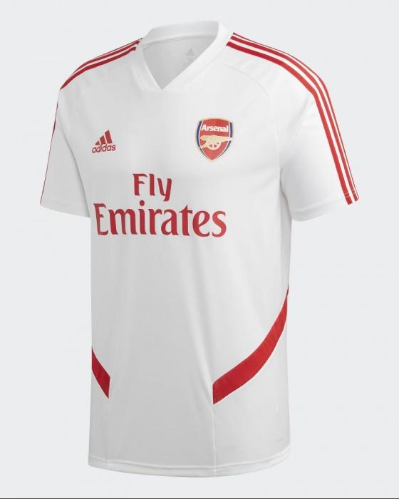 Dettagli su Arsenal Fc Adidas Maglia Allenamento Training Shirt Uomo 2020 Bianco