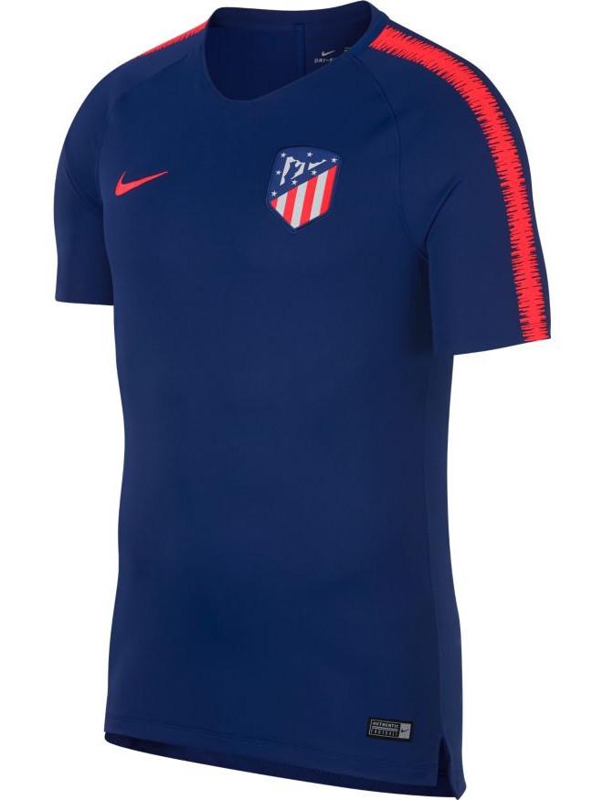 fd25fc2d9 Atletico Madrid Nike Training Shirt Top Breathe Squad Navy 2018 19 ...