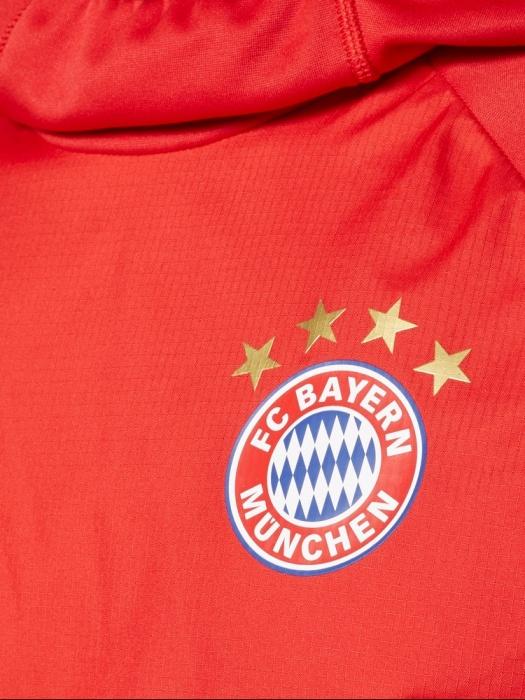 Details zu Bayern Monaco Adidas warm top Felpa Allenamento Sweatshirt Rosso 2017 18