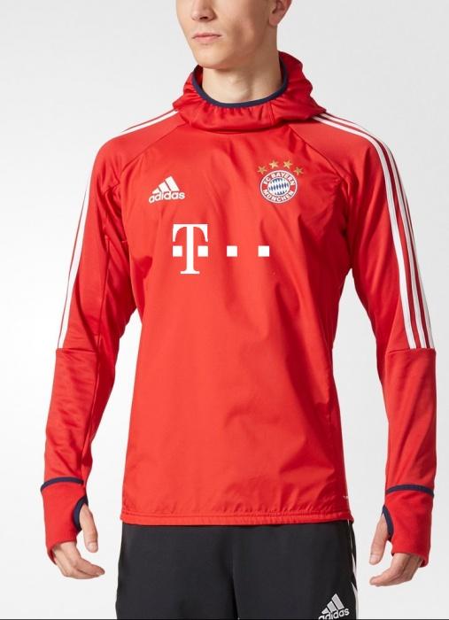 ... Felpa Allenamento Bayern WARM TOP adidas Uomo 2017 18 Sponsor T Mobile  Rosso Originale - Training 02dfca3249a3