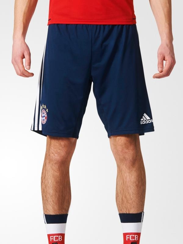 Bayern-Monaco-Adidas-Pantaloncini-Shorts-Training-Blu-2017-18