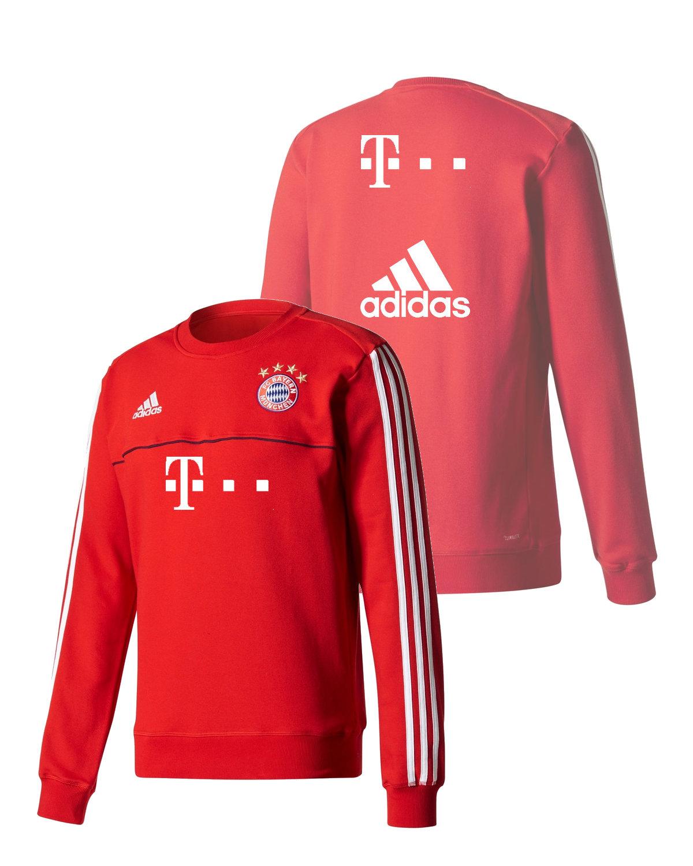 T-Mobile-Sponsor-Bayern-Monaco-Adidas-Felpa-Allenamento-Sweat-top-Rosso-cotone