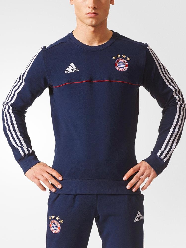 Bayern-Munchen-Adidas-Training-Sweatshirt-2017-18-Blue-Homme-coton