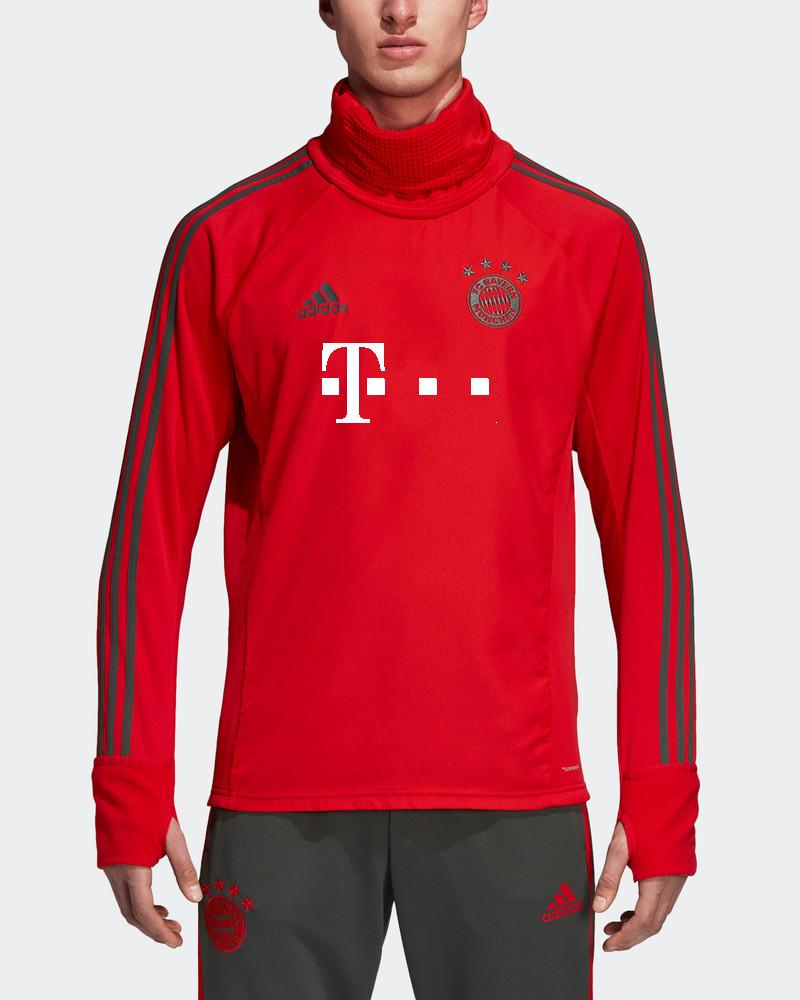 Bayern Monaco Adidas T-Mobile Sponsor Felpa Allenamento Warm Top Rosso 2018  19 4 4 di 7 ... b32ae661fb8e