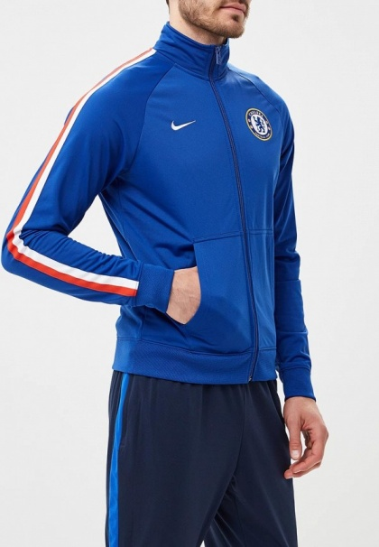 Details about Chelsea Fc Nike Giacca Tuta Jacket 2017 18 Track Top Sportswear Blu Uomo