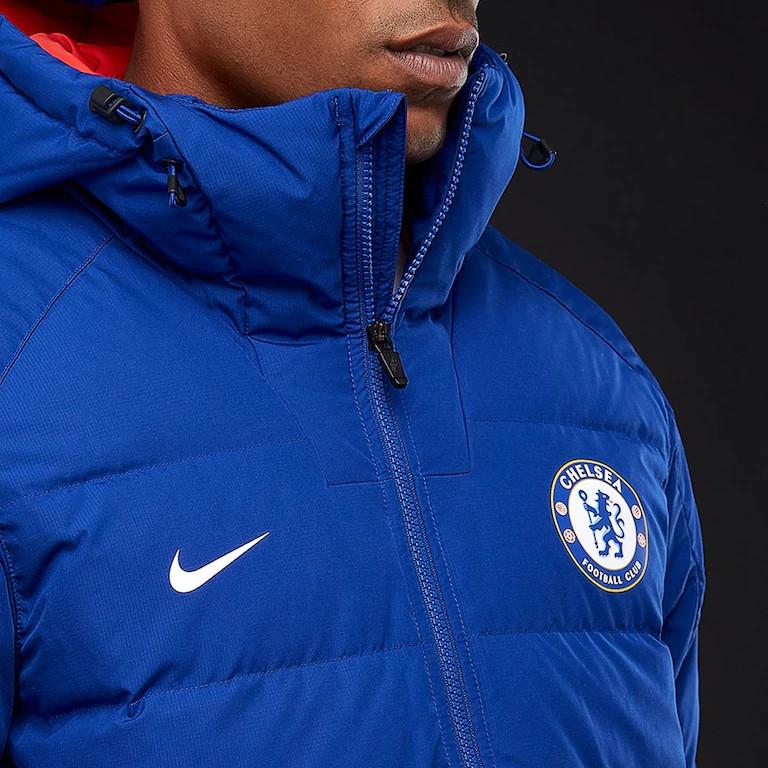 52f1b03f39dd Chelsea Fc Nike Down Padded Jacket winter padded Navy 2018 19   eBay