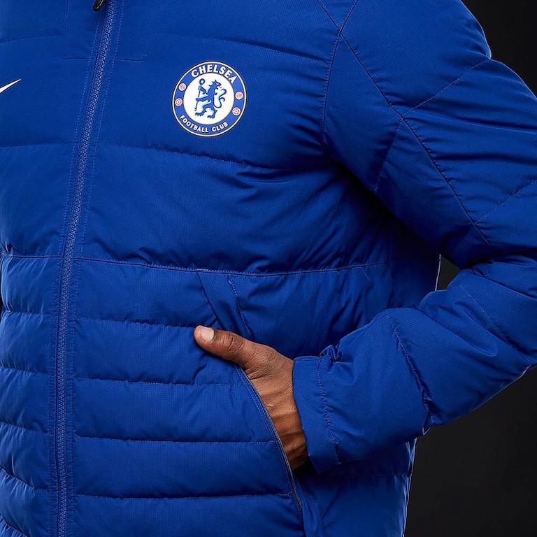 ae6bb6106 Chelsea Fc Nike Bomber Piumino Giubbotto winter padded Blu 2018 19 7 7 di 8  ...