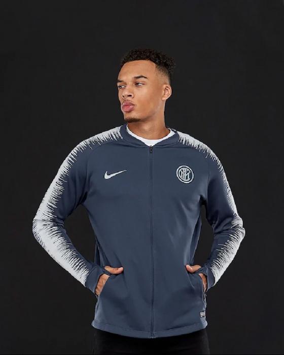 9412f9f00d Dettagli su Inter Fc Nike Giacca pre Gara Pre match Jacket 2018 19 Anthem  Grigio Scuro