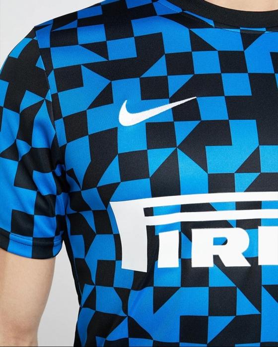 Inter Milan Nike Maillot Entreinment 2019 20 Pre Match Dry UCL Jaune noir | eBay
