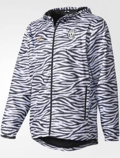... Giacca vento pioggia Seasonal Special Windbreaker Juventus Nero  Originale adidas Uomo 2016 17 - Seasonal Special ...