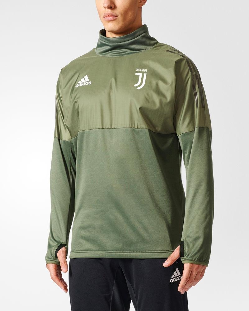 a4270ea4e FC Juventus Adidas Hybrid Top Uefa Training Sweatshirt Felpa Green 2017 18