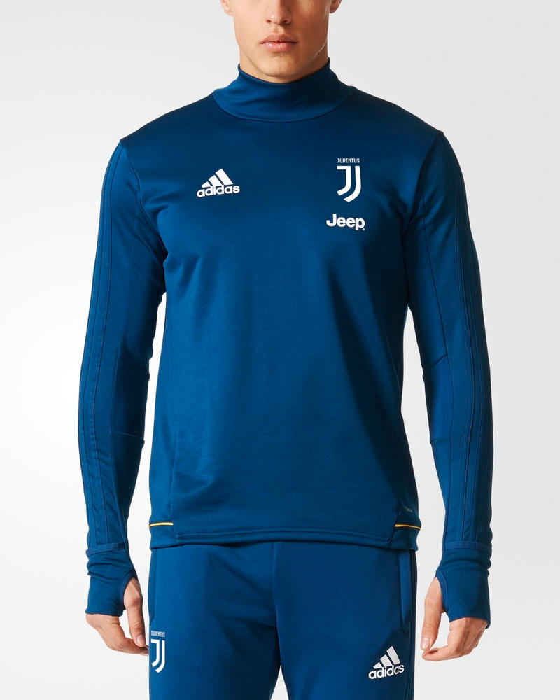 Juventus-Fc-Adidas-Felpa-Allenamento-Training-Sweatshirt-Uomo-2017-18-Blu