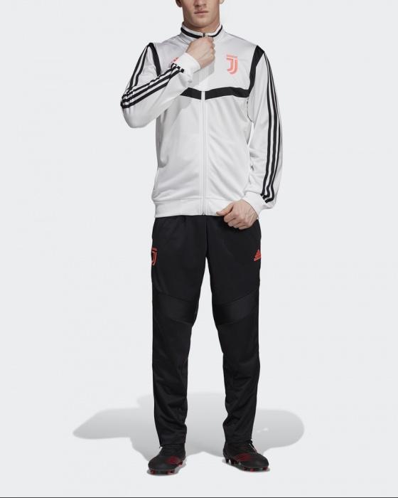 grey and bianca adidas tracksuit uomo