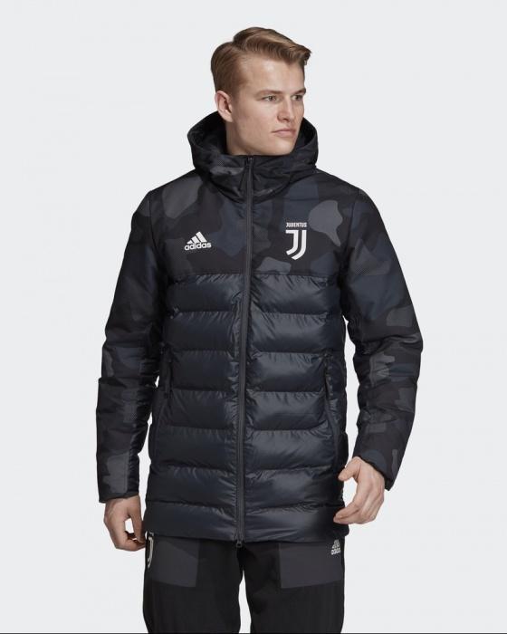 Juventus Turin Adidas Daunenjacke Padded Jacket 2019 20 Schwarz